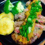 豊後牛の鉄板ステーキ オニオンソース